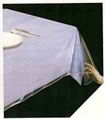 clear vinyl table protector amazon com clear vinyl table protector cover oblong 60 x 108