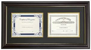 frame for diploma dual vertical diploma frame 2 8 5 x 11 certificates