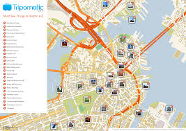Boston And New York Map by Map Of Nyc Tourist Attractions Sightseeing Tourist Tour New York