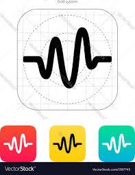 Sound Wave by Sound Wave Icon Royalty Free Vector Image Vectorstock