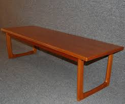 swedish mid century modern teak coffee table or bench for sale at