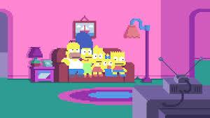 8 bit halloween background simpsons pixels youtube
