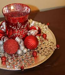 christmas candle centerpiece ideas christmas candle centerpiece and silver snowflake