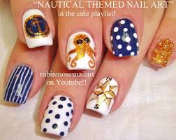 easy nail art tutorial 5 designs for nails diy nautical youtube