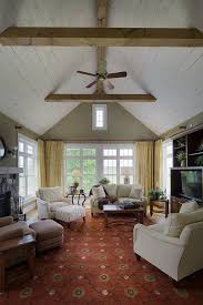 vaulted ceiling beams cathedral ceiling with beams living room farmhouse with wood
