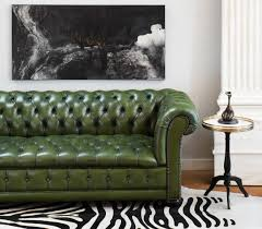 Are Chesterfield Sofas Comfortable by Vintage Green Leather Chesterfield Sofa Jean Marc Fray