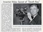 Inventor Hides Secret of 'Death Ray' (Popular Science, 1940) » The ... constantinereport.com