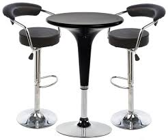 pub set with 1 round cocktail table 2 adjustable leatherette