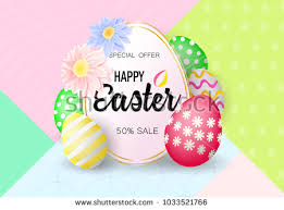 easter eggs sale easter eggs sale banner isolated on stock vector 1033521766