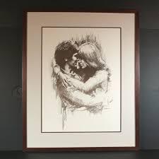 leo jansen leo jansen hugging chalk pastel print framed couples