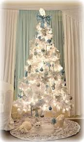 White Christmas Tree Silver Decorations by Our Cute Blue White Christmas Tree Christmas Tree Holidays