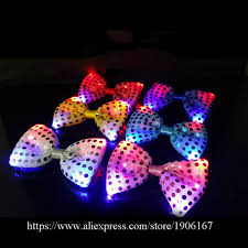 light up bow tie fashion led luminous bow tie led holiday light up flashing sequin