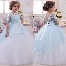 wedding and prom dresses 2017 princess toddler pageant dress lace appliques wedding