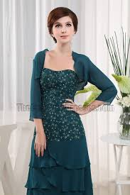 dark green chiffon mother of the bride dress prom gown