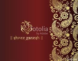 wedding cards design ganesh traditional hindu wedding card design india stock image