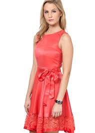 peach color lace dress in peach color the vanca