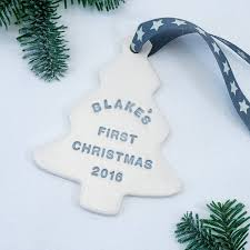 baby u0027s first christmas tree decoration by kate charlton ceramics
