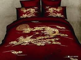 Japanese Comforter Set 3d Red Dragon Phoenix Comforter Bedding Set Queen Size Bedspread