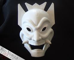 blank masks blue spirit mask blank nebula studios