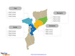 Mozambique Map Free Mozambique Editable Map Free Powerpoint Templates