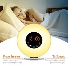alarm clock that wakes you up during light sleep demeao wake up light sunrise alarm clock a better way to express