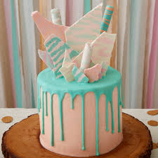 neon zebra birthday cake
