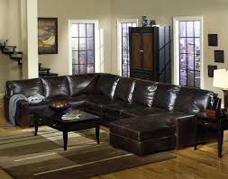 Brown Leather Sectional Sofa With Chaise Usa Premium Leather 9935 Track Arm Sofa Chaise Sectional