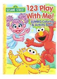 sesame street coloring book activity elmo abby zoe muppets