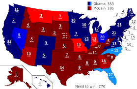 map us colleges file current 2008 us electoral college polling map png wikimedia
