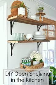 ideas for shelves in kitchen open shelf kitchen storage diy lanzaroteya kitchen