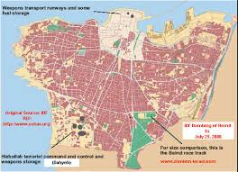 beirut on map map bombing of beirut to july 21 2006
