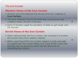 Summary Of Iron Curtain Speech Chapter 25 The Cold War Begins Ppt Online Download