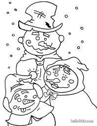 snowmen coloring pages hellokids com