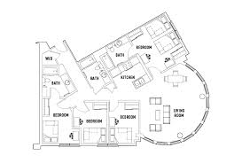 4 bed floor plans 4 bed 3 bath d5 shared bedroom icon plaza student housing