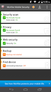 mcafee mobile security android antivirus