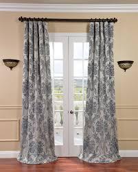 Grey Beige Curtains Exclusive Fabrics Magdelena Chagne Faux Silk Jacquard Curtain