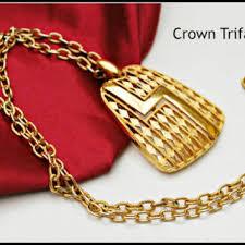 vintage long gold necklace images Shop crown trifari necklaces on wanelo jpg