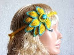 crochet hair bands 12 best crochet hair accessories images on crochet