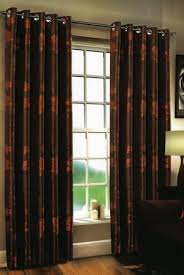 Chocolate Curtains Eyelet Dunedin Eyelet Chocolate Orange Curtains Harry Corry Limited