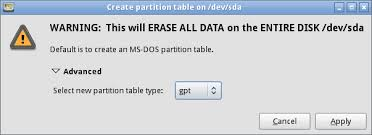 Unsupported Partition Table A Bios To Uefi Transformation