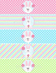 printable napkin rings items similar to bunny party bunny printable water bottle