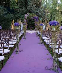 outside weddings purple flower for garden wedding ceremonial outdoor wedding