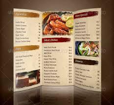 menu brochure template famous pizza menu brochure template