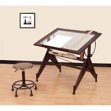 Light Drafting Table Architectural Drafting Table Glass Top Light Drawing Work Desk