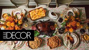 decoration thanksgiving 7 beautiful thanksgiving tablescapes elle decor youtube