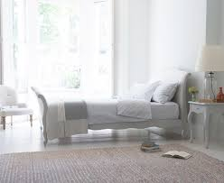 antoinette bed in scuffed grey grey french bed loaf