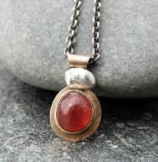 sterling silver quartz necklace images Strawberry quartz necklace with 14k gold and sterling silver jpg