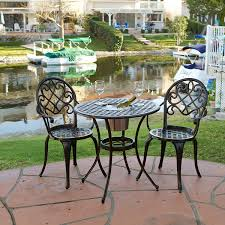 Gp Products Patio Furniture Amazon Com Palermo 3 Pcscast Aluminum Outdoor Bistro Set W Ice
