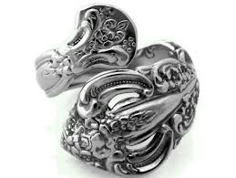 Silver Spoon Jewelry Making - wrapped spoon ring michelangelo choose your size