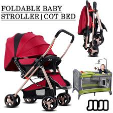 Foldable Baby Crib by Qoo10 Foldable Stroller Cot Bed Baby Crib Bike Diaper